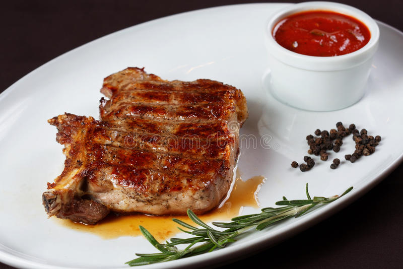 Download Grilled Steak. Barbecue stock image. Image of cooked - 27543755