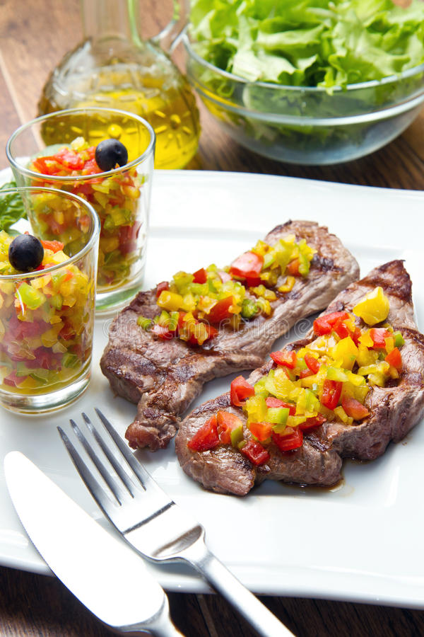Download Grilled Steak Meat stock image. Image of close, barbecue - 26276709