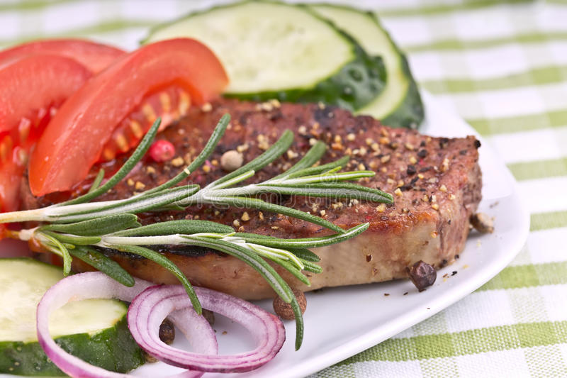Download Grilled Steak Meat stock image. Image of barbeque, dining - 28126925
