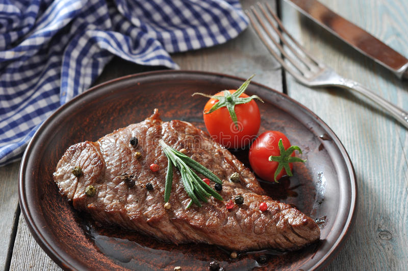 Download Grilled steak stock image. Image of chop, beef, meal - 35466895