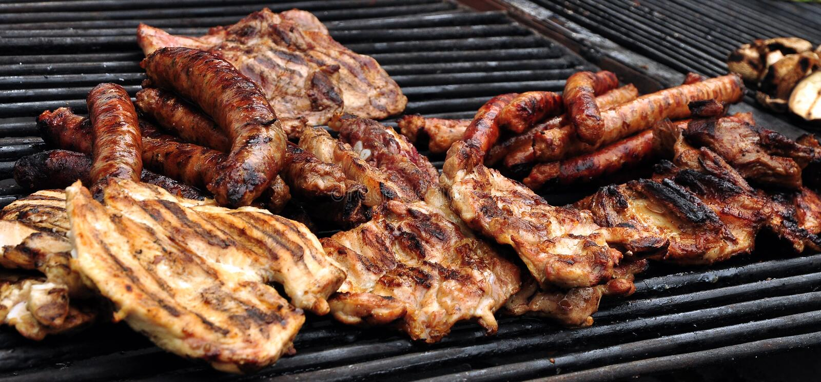 Grilled Steaks Stock Images