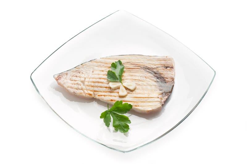 Grilled swordfish stock photos