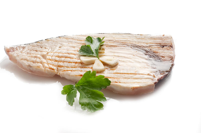 Grilled swordfish royalty free stock photos
