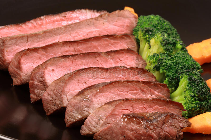 Grilled tender beef royalty free stock photography
