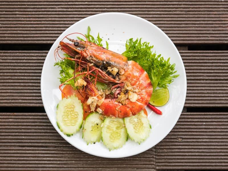 Grilled Tiger prawn royalty free stock photos