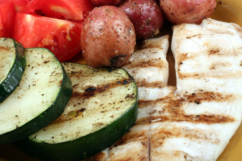 Grilled Tilapia Filet stock images