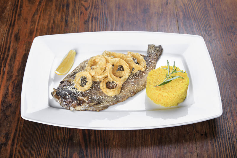Grilled trout fish royalty free stock photos