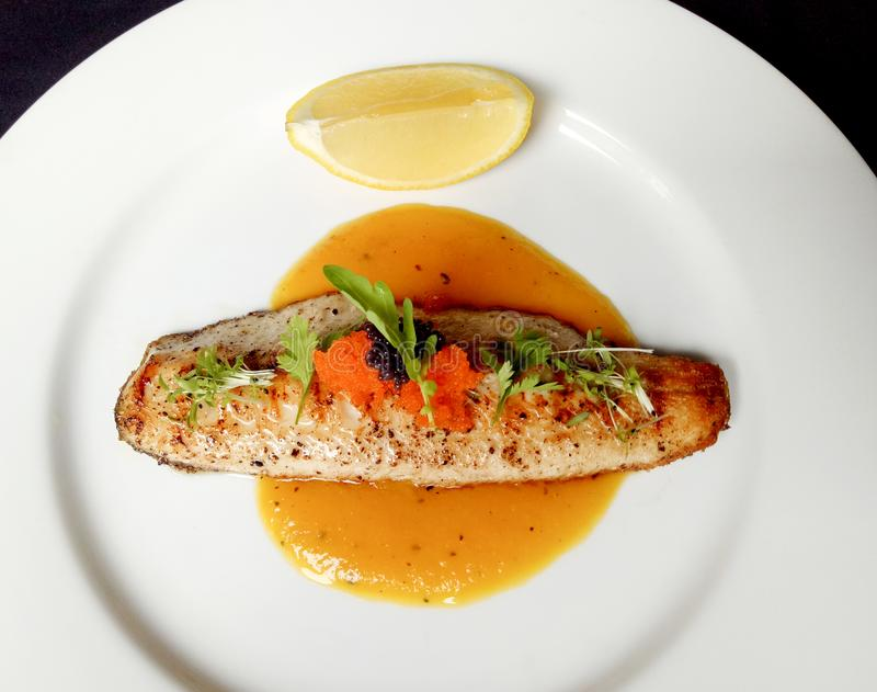 Grilled Trout stock images