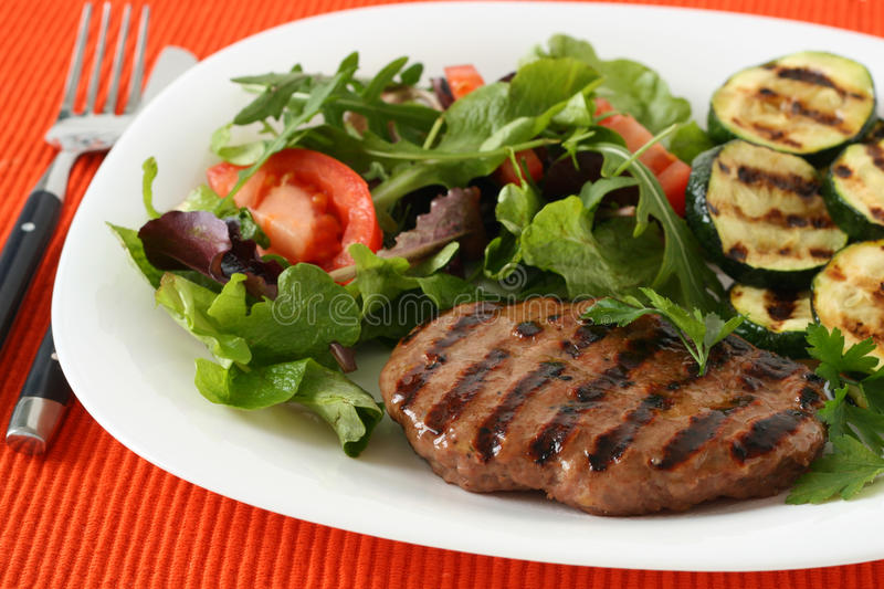 Download Grilled Turkey Hamburger With Vegetables Stock Image - Image: 17990047