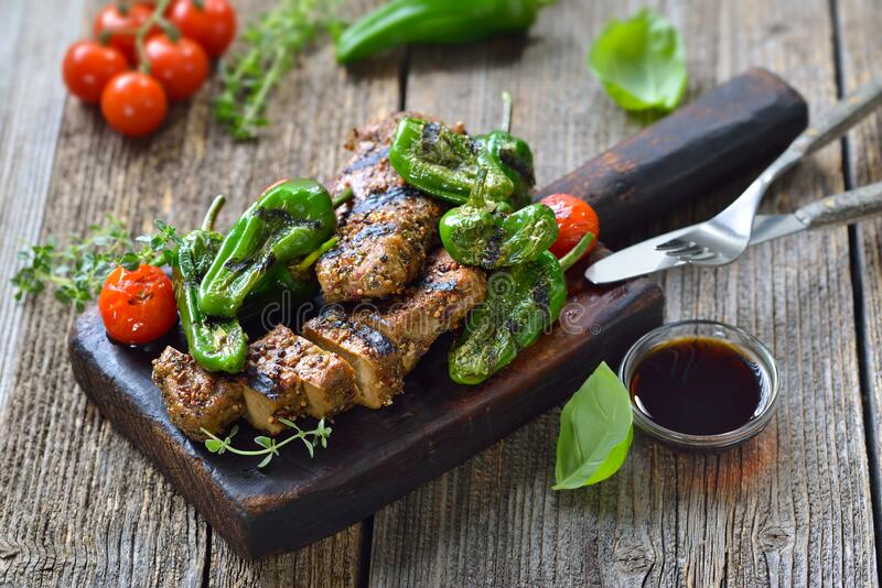 Meatless steaks stock photography