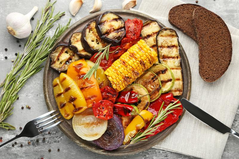 Grilled vegetable stock image