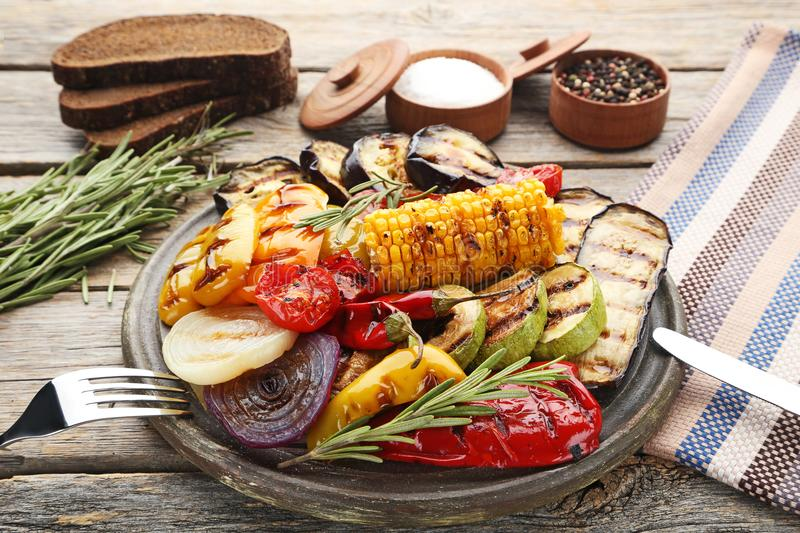 Grilled vegetable stock photography