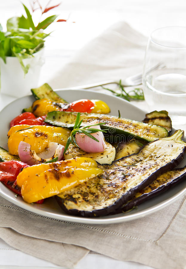 Grilled vegetable salad royalty free stock image