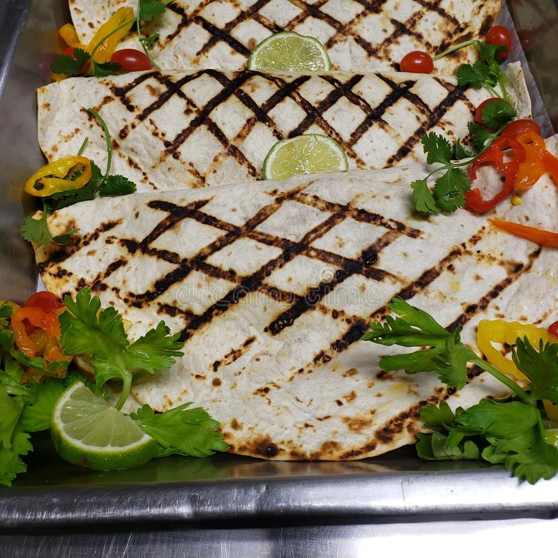 Grilled Vegetable Wrap stock images