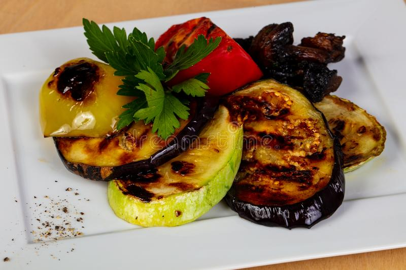 Grilled vegetables heap royalty free stock photography