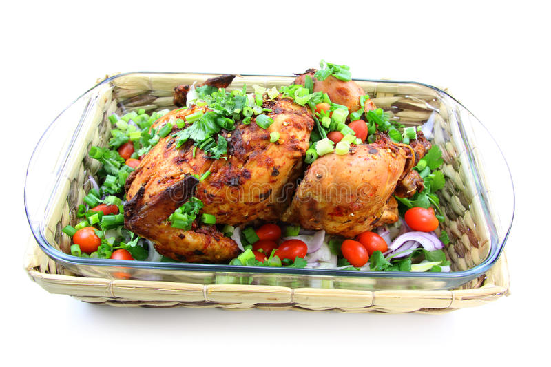 Download Grilled whole chicken stock image. Image of health, culinary - 18913281