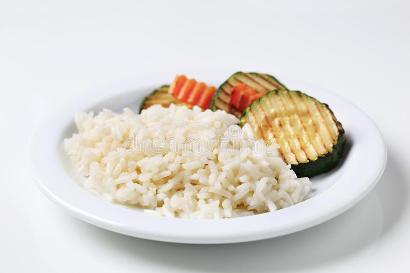 Download Grilled zucchini and rice stock image. Image of vegetarian - 16489979