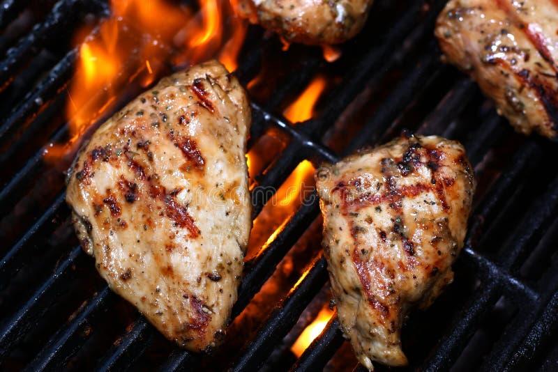 Grillen Des Huhns Stockfoto