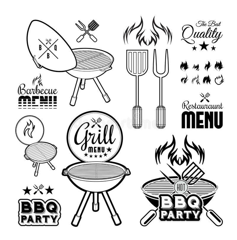 Grillen Sie Grill lizenzfreie abbildung