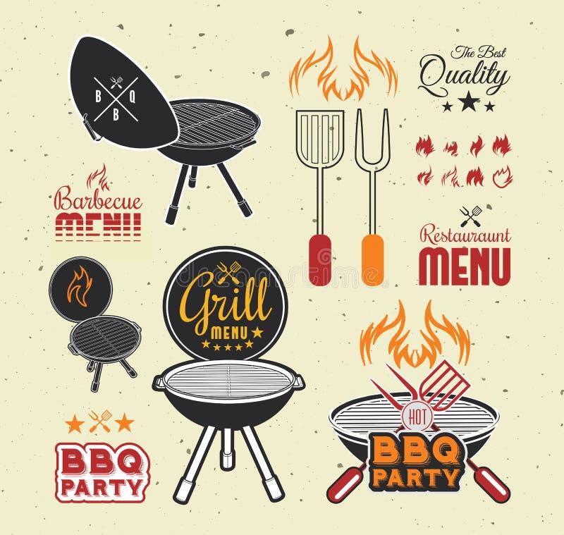 Grillen Sie Grill stock abbildung