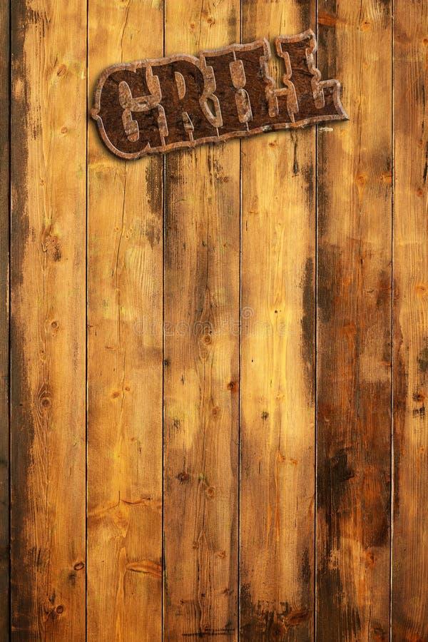 Griller le menu illustration de vecteur