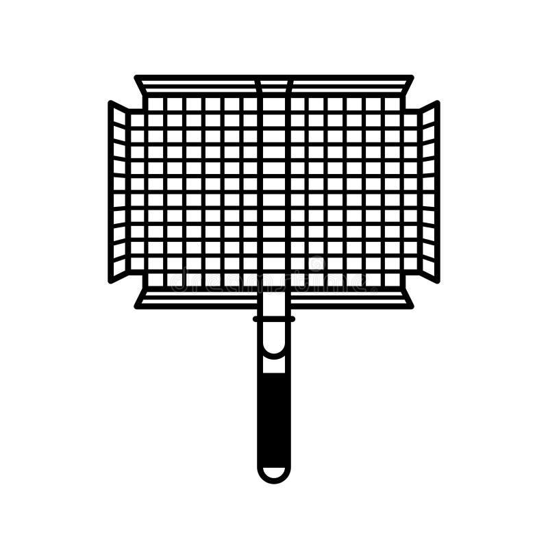 Griller le panier illustration de vecteur