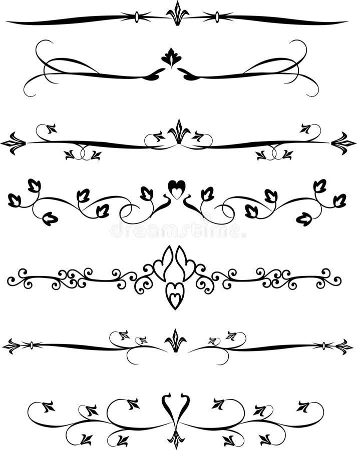 Grilles de tabulation de page illustration de vecteur