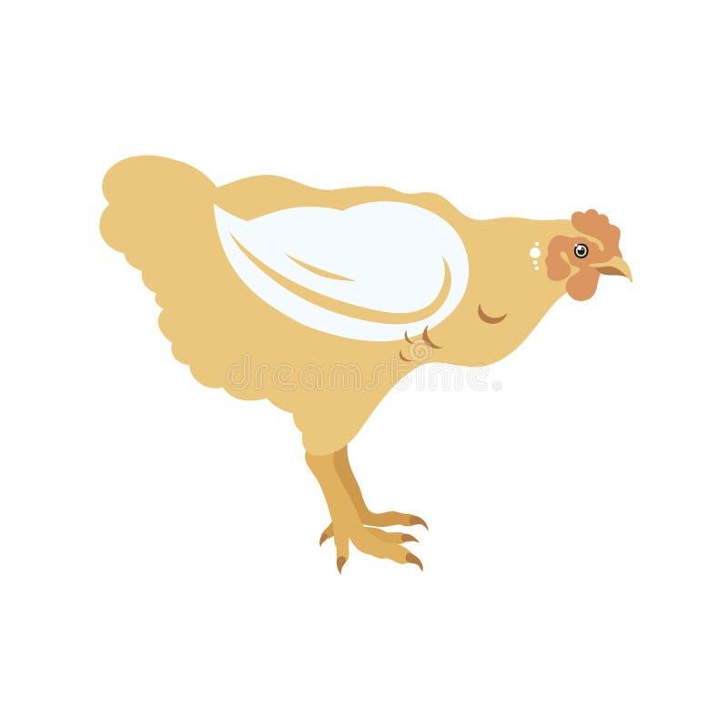 Grilleur de poulet volaille Label pour des produits à base de poulet affermage Augmenter de bétail illustration libre de droits