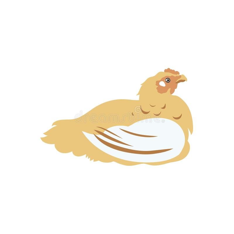 Grilleur de poulet volaille Label pour des produits à base de poulet affermage Augmenter de bétail illustration de vecteur