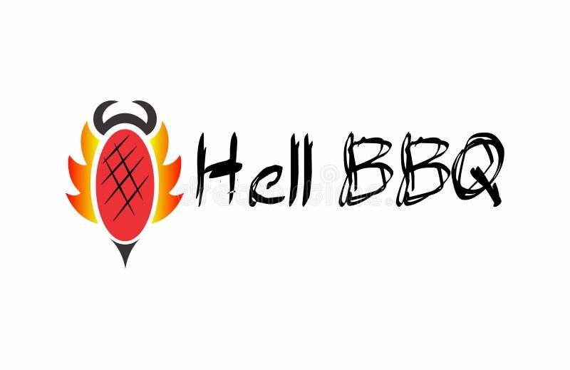 Grillfest från helvete vektor illustrationer