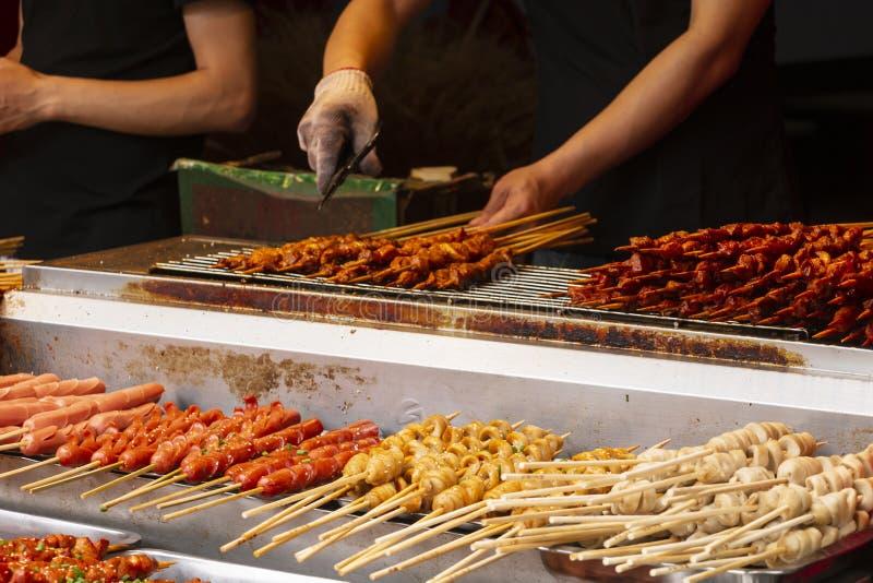 Grillfest i Hubu Xiang, Wuhan royaltyfria bilder