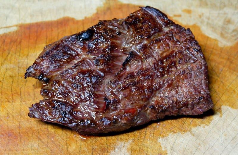 Grillfestbiff - BBQ-biff arkivbild