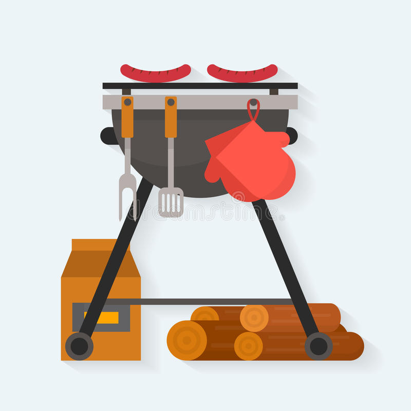 grillfester royaltyfri illustrationer