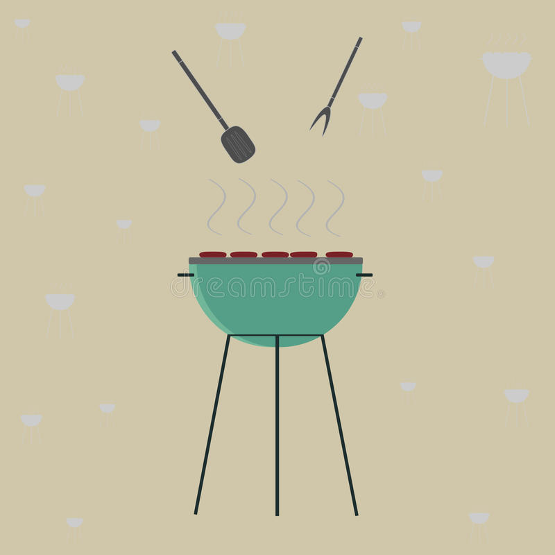 grillfester vektor illustrationer