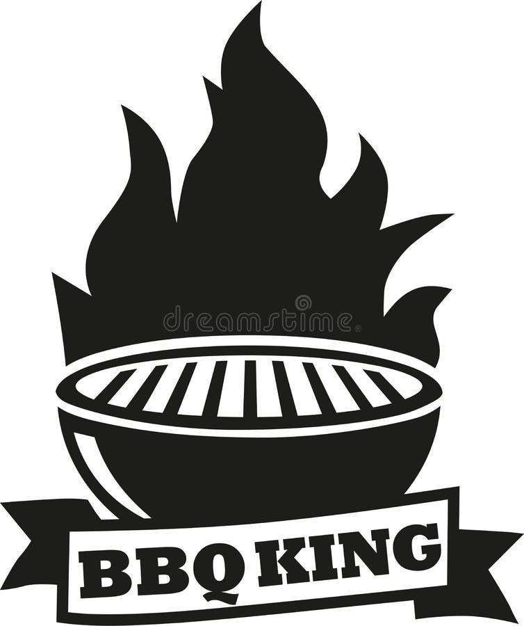 Grillfestgaller med BBQ-konung royaltyfri illustrationer