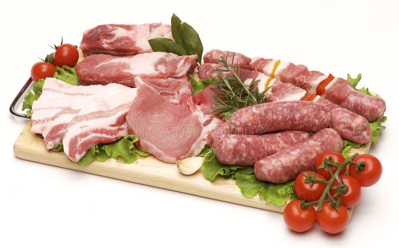 grillfestmeatpork arkivfoto