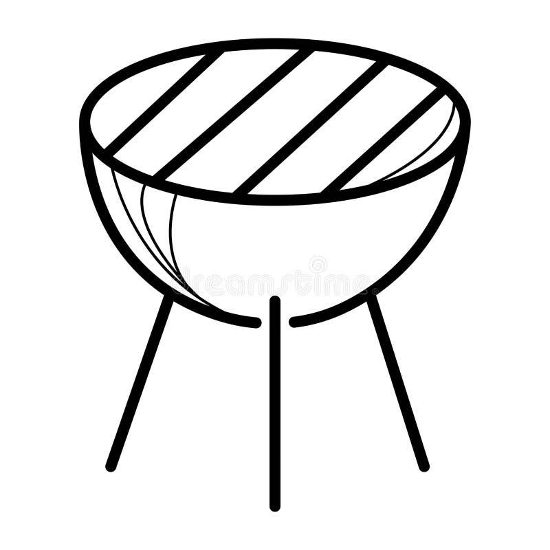 Grillfestsymbolsvektor royaltyfri illustrationer