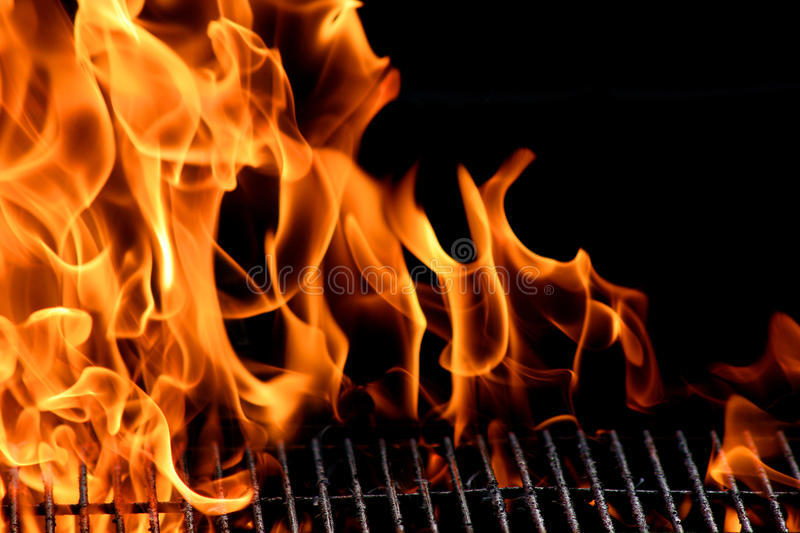Grillflamme stockfotos