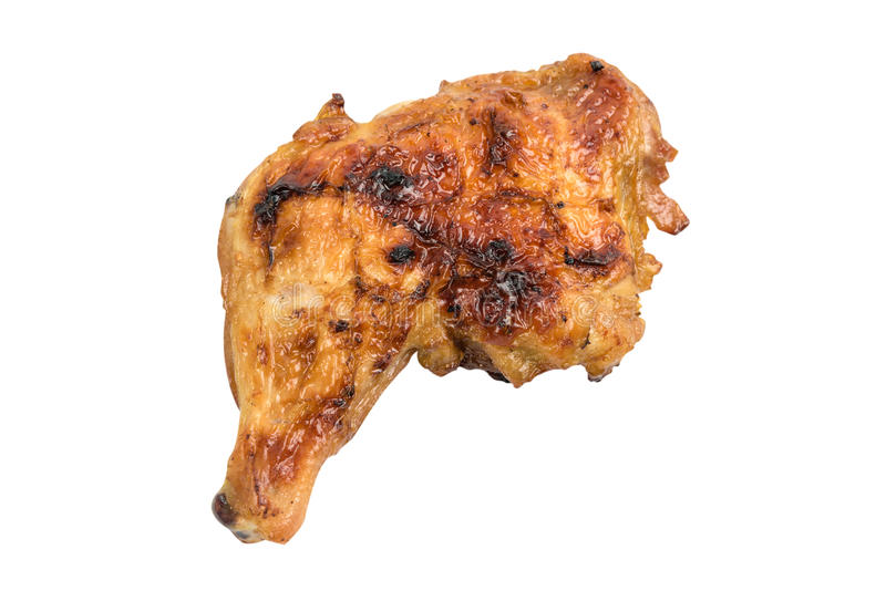 Grillhühnerschenkel stockbilder