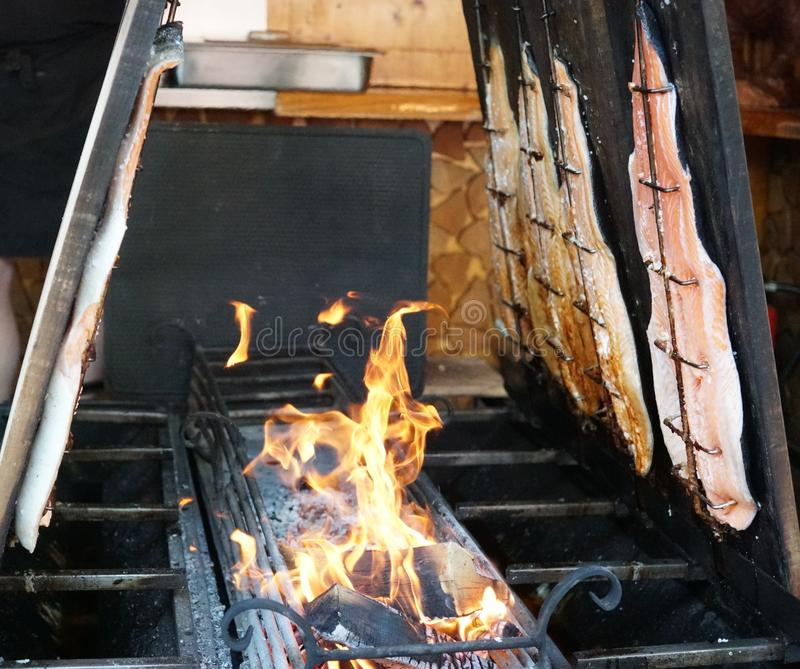 grilling στοκ φωτογραφία