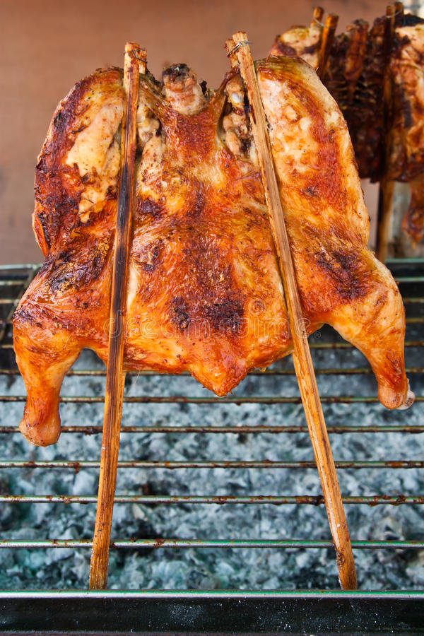 Download Grilling chicken stock photo. Image of coal, barbecue - 19673538