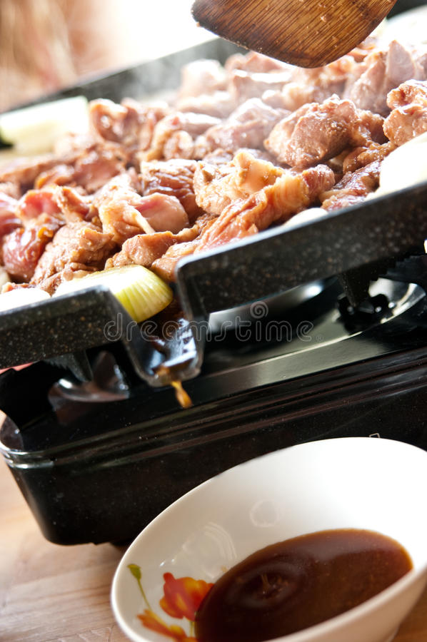 Download Grilling meat stock image. Image of cook, culinary, portable - 24742195