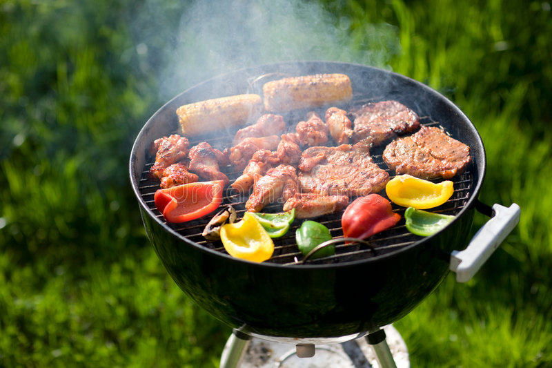 Download Grilling At Summer Weekend Royalty Free Stock Photo - Image: 5205115