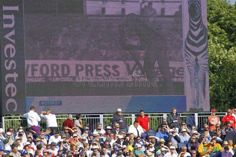 Grillo: Inglaterra v Australia 4ta incinera el día uno de la prueba imágenes de archivo libres de regalías