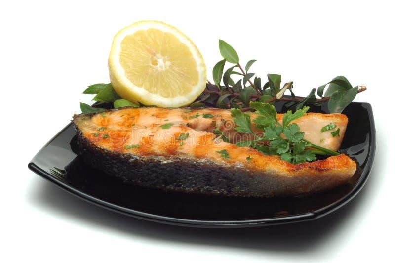 grillowany łososia obraz stock