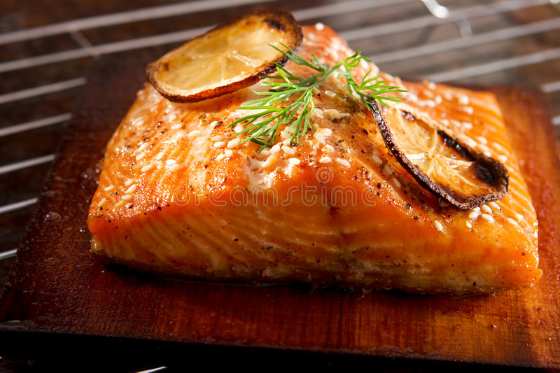 grillowany łososia zdjęcia royalty free