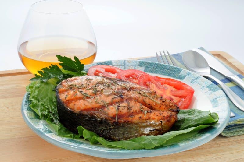 grillowany łososia zdjęcia stock