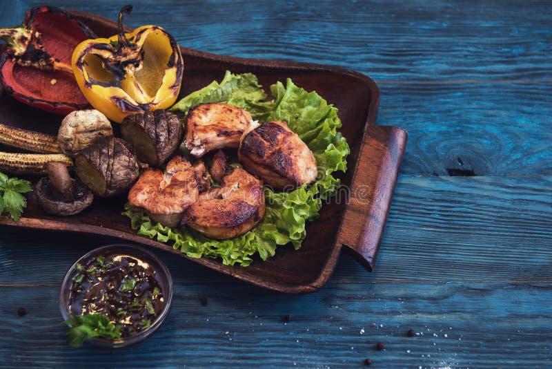 grillowany świńskiego mięsa fotografia royalty free