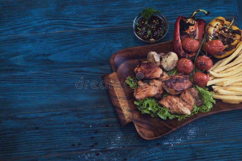 grillowany świńskiego mięsa zdjęcia stock