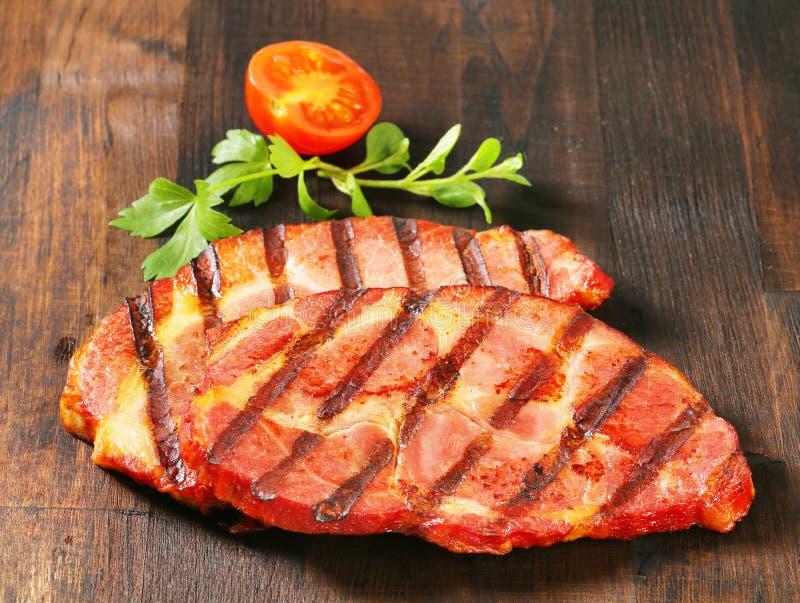 grillowany świńskiego mięsa obrazy royalty free